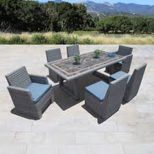 slate outdoor dining table niko 7 piece patio dining set in slate by sirio patio furniture