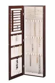 Armoire With Mirrored Front Wall Mounted Jewelry Cabinet With Mirror Foter