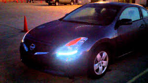 nissan altima coupe sports car altima coupe led lights youtube