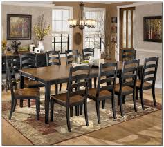 Ashley Furniture Kitchen Table Set Rustic Large Dining Room Table Chair Set For 10 People Formal