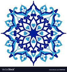 Pattern Ottoman Artistic Ottoman Pattern Series Eighty Six Vector Image