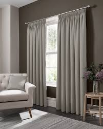 Pencil Pleat Curtains Elba Pencil Pleat Curtains Feather By Studio G Brewers Home