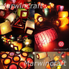 battery powered led 20 asian multi color chinese paper lantern