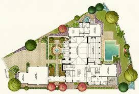 pen and ink watercolor rendering u2013 single family floor plan
