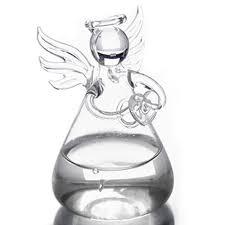 Crystal Glass Vase Angel Vases Crystal Transparent Glass Flower Vase Hydroponic