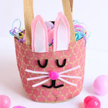 easter basket bunny bunny easter basket craftgawker