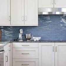 glass tiles backsplash kitchen white kitchen cabinets with blue glass tile backsplash