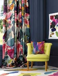 Bright Colored Curtains Curtain Yellow Chair Bright Colors Floral Curtains Prints