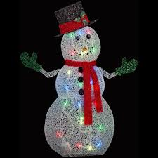 Christmas Yard Decorations For Sale by Applights 50 In Crystal Swirl Snowman Lighted Yard Sculpture