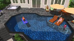 long island tub backyard swimming pool and bullfrog spas
