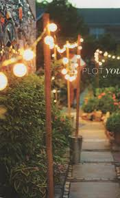 Outdoor Walkway Lights by Workshop Garden Inspiration Wooden Posts Buckets And Reception