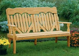amish made pine wood high back deck bench amish outdoor