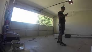 Overhead Door Panels by How To Install Garage Door Panels Youtube