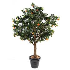 artificial orange tree 210cm on fibre glass stem
