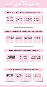 preparation of event plan for wedding wedding reception checklist bg events and catering
