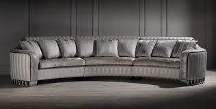 Curved Conversation Sofa by Silver Curved Sofa Luxury Curved Sofa Unusual Sofa Large Sofa