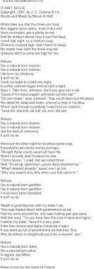 No Lie Meme - old time song lyrics for 55 it aint no lie
