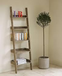 Diy Leaning Ladder Bathroom Shelf by Backyards Small Ladder Bookcase Triple Designs Diy Brown Wooden
