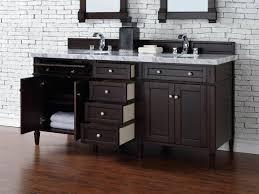 contemporary 72 inch double sink bathroom vanity mahogany finish
