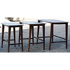 Nesting Dining Table Danish Mid Century Modern Set Of 3 Nesting Tables Mr12452 Ebay
