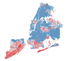 New York Boroughs Map by See Who Didn U0027t Vote For De Blasio Maps Huffpost