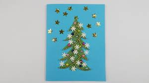 christmas card with a xmas tree diy papercraft scrapbooking