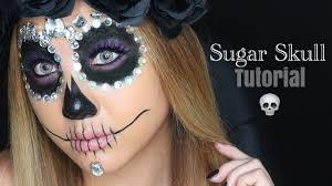Sugar Skull Halloween Makeup Tutorial by Day Of The Dead Sugar Skull Tutorial Halloween Makeup Youtube