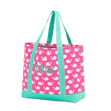 pink whale tote bag embroidery blanks special purchase nla