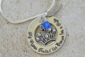 baby remembrance jewelry my prince traded his crown for a halo in loving memory