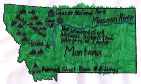 Montana State Map State Report Montana