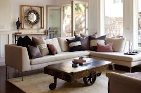 san francisco rustic buffet table living room eclectic with double