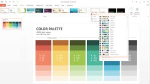 how to customize powerpoint color palette slideson