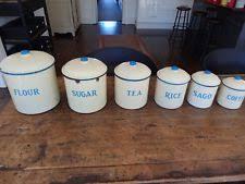 enamel kitchen canisters set of 5 vintage green enamel canisters ebay