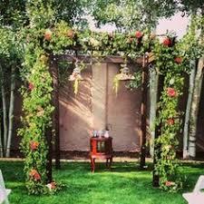 wedding arches rental denver ceremony flwoers wine barrel www bellacalla calla