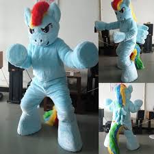 Pony Rainbow Dash Halloween Costume Aliexpress Buy Ohlees Actual Picture Photo Blue