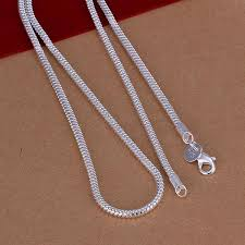wholesale jewelry necklace chains images Wholesale fashion 3mm silver snake chain necklace 925 jewelry jpg