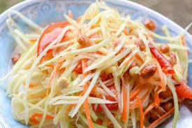 cuisiner la salade verte salade de papaye verte pour les nuls som tam