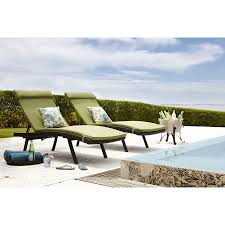 Crate And Barrel Patio Cushions by Lowes Woven Chaise Lounge With Sunbrella Cilantro Chaise Cushions