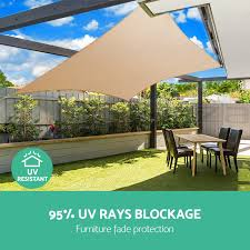 Triangle Awnings Canopies Extra Heavy Duty Shade Sail Sun Canopy Outdoor Triangle Square