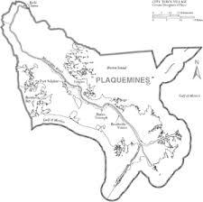 louisiana map city names plaquemines parish louisiana