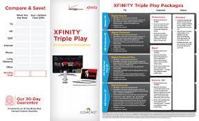 Home Xfinity by Xfinity Triple Play Brochure On Behance