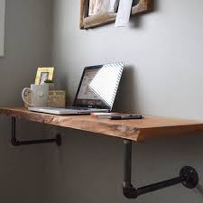 live edge computer desk perfect for stylish space savers this minimalist wall mounted live
