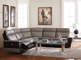 couch taupe homelegance laertes power reclining sectional sofa set top grain