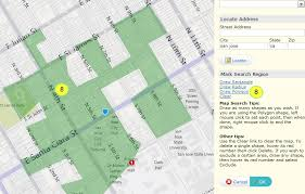 draw a radius on a map how to map search mlslistings support