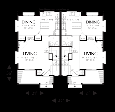 Hillside Floor Plans by Mascord House Plan 4027 The Woodbury