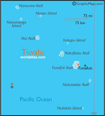 map of tuvalu tuvalu large color map by world atlas