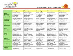 blank lesson plan template infants sample weekly daily 5