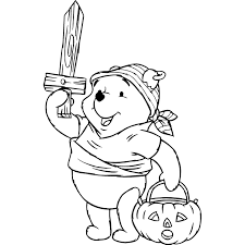 no halloween desenho de winnie the pooh pirata no halloween para colorir