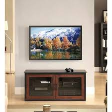 whalen brown cherry tv stand amazon com whalen brown closed door 3 in 1 tv stand for tvs up to