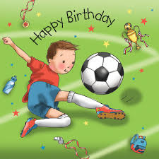 boys birthday card football tw670